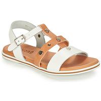 Chaussures Garçon Sandales et Nu-pieds André MILAN Blanc / Camel