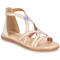Chaussures Fille Sandales et Nu-pieds André MELODIE Blanc