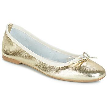 Chaussures Femme Ballerines / babies André PIETRA Doré