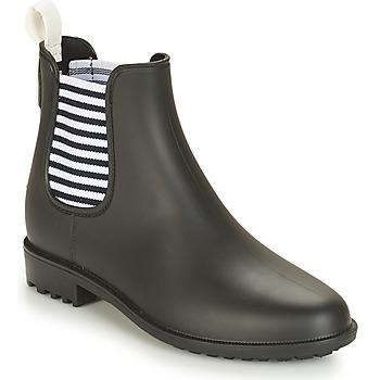 Chaussures Femme Bottes de pluie André SKIPPER Noir