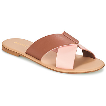 Chaussures Femme Mules André CRYTELLE Marron