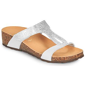 Chaussures Femme Sandales et Nu-pieds André REVERA Argentéé / Blanc