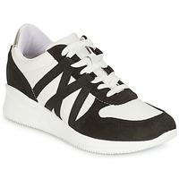 Chaussures Femme Baskets basses André ALLURE Noir / Blanc