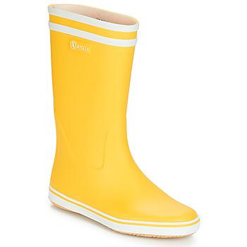 Chaussures Femme Bottes de pluie Aigle MALOUINE BT Jaune
