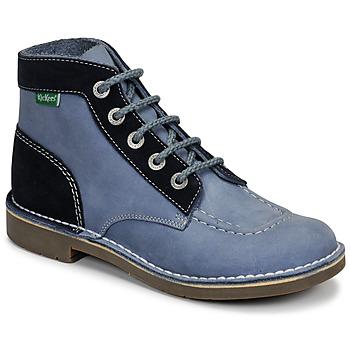 Chaussures Femme Boots Kickers KICK COL Bleu