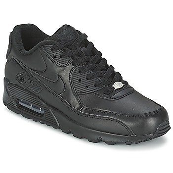 Chaussures Air max tnHomme Baskets basses Nike AIR MAX 90 LEATHER Noir