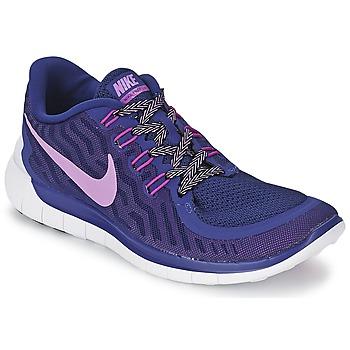 Chaussures-de-running Nike FREE 5.0 W Bleu
