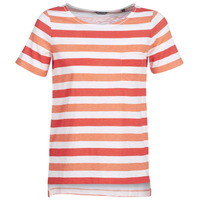 Vêtements Femme T-shirts manches courtes Marc O'Polo CARACOLINE Blanc / Orange