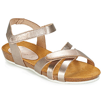 Chaussures Fille Sandales et Nu-pieds Kickers BOGART Bronze métal
