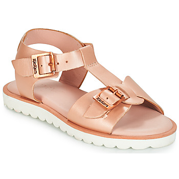 Chaussures Fille Sandales et Nu-pieds Kickers ISABELA Rose metal
