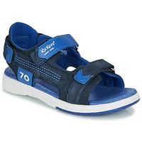 Chaussures Garçon Sandales et Nu-pieds Kickers PLANE Marine