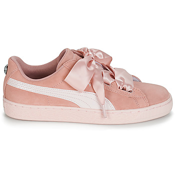 Baskets basses enfant Puma JR SUEDE HEART JEWEL.PEACH