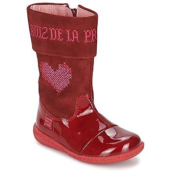 Chaussures Fille Bottes ville Agatha Ruiz de la Prada DAFNE Rouge