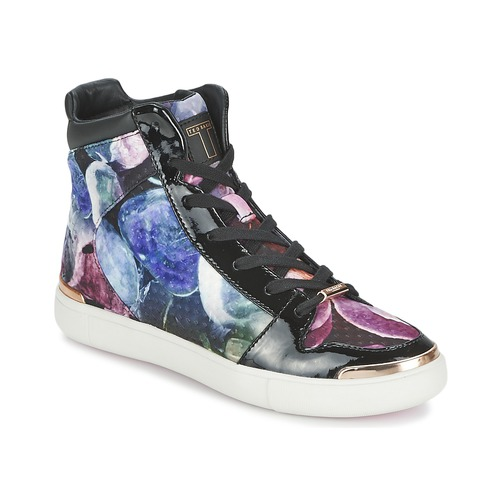 Chaussures Femme Baskets montantes Ted Baker MADISN Noir / Multicolore