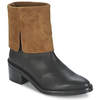 Chaussures Femme Boots Miista KAMILA Noir / Marron
