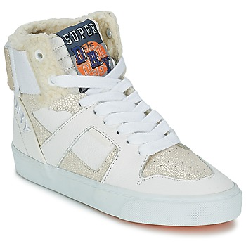 Chaussures Air max tnFemme Baskets montantes Superdry MARIAH HIGH TOP Blanc