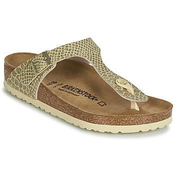 Chaussures Femme Tongs Birkenstock GIZEH Doré