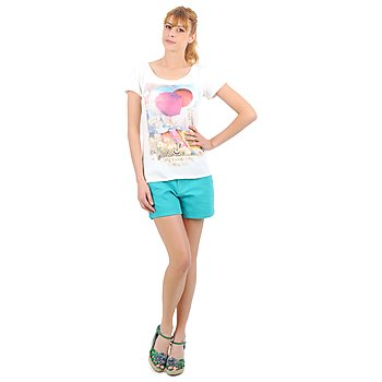 Vero Moda RIDER 634 DENIM SHORTS - MIX Turquoise