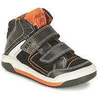 Chaussures Garçon Baskets montantes Primigi MOTT Noir / Orange