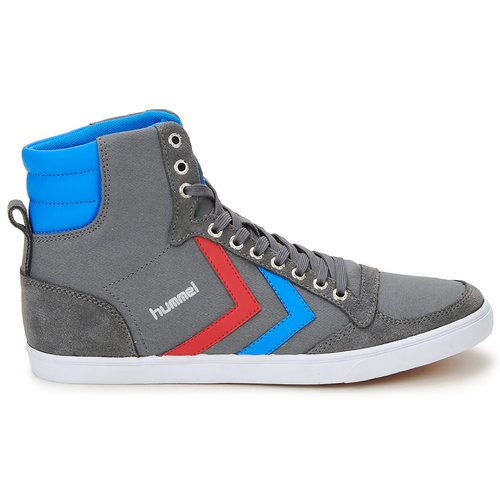 Hummel TEN STAR HIGH CANVAS Gris / Bleu / Rouge