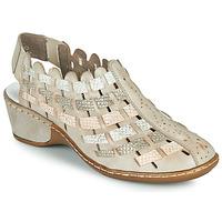 Chaussures Femme Sandales et Nu-pieds Rieker ROBERTO Argenté