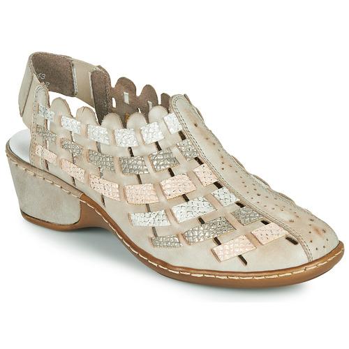 Chaussures Femme Low boots Rieker ROBERTO Argenté