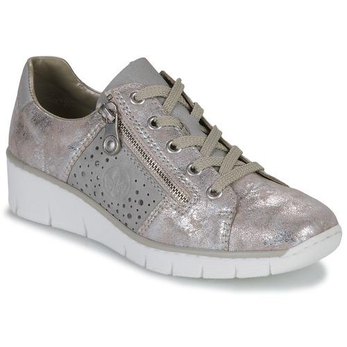 Chaussures Femme Baskets basses Rieker RIKE Doré