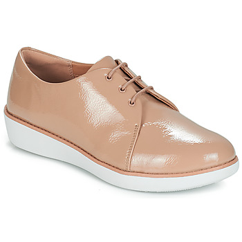 Chaussures Femme Derbies FitFlop DERBY CRINKLE PATENT Taupe