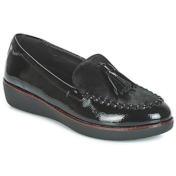 Chaussures Femme Mocassins FitFlop PAIGE FAUX-PONY Noir