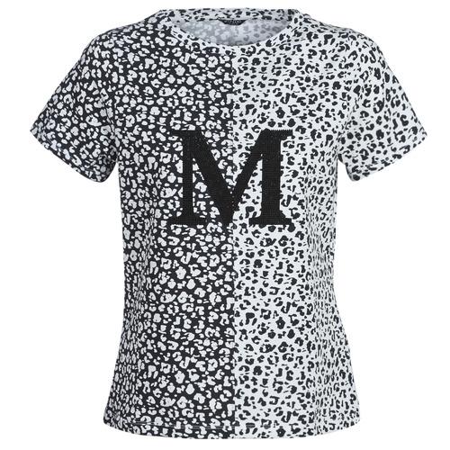 Vêtements Femme T-shirts manches courtes Marciano RUNNING WILD Noir / Blanc