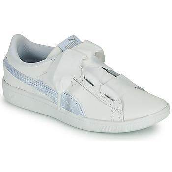 Chaussures Enfant Baskets basses Puma VIKKY RIB PS BL Blanc