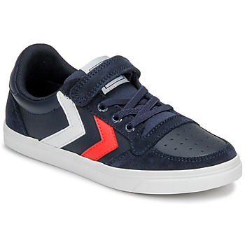 Chaussures Enfant Baskets basses Hummel SLIMMER STADIL LEATHER LOW JR Bleu