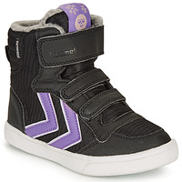 Chaussures Fille Baskets montantes Hummel STADIL POLY BOOT MID JR Noir
