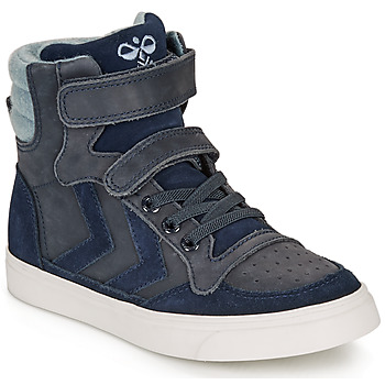 Chaussures Enfant Baskets montantes Hummel STADIL WINTER HIGH JR Bleu