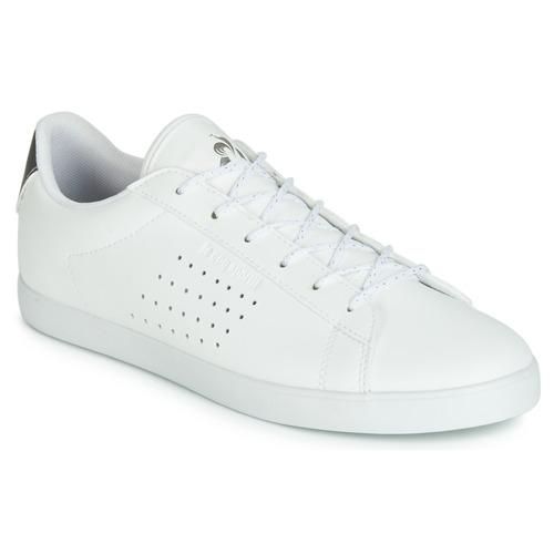 Chaussures Femme Baskets basses Le Coq Sportif AGATE PREMIUM Blanc / Argent