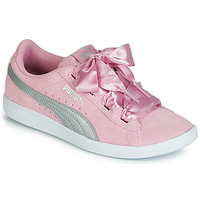 Chaussures Fille Baskets basses Puma JR PUMA VIKKY RIBBON.LILAC Rose