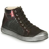 Chaussures Fille Baskets montantes GBB ORENGETTE Noir / Argenté