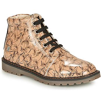 Chaussures Fille Boots GBB NAREA Rose / Noir