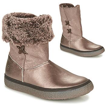 Chaussures Fille Boots GBB OLINETTE Doré
