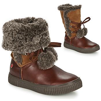 Chaussures Fille Boots GBB NOUSTIK Marron