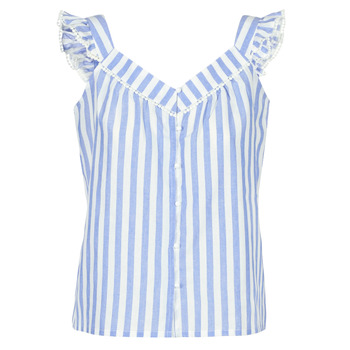 Vêtements Femme Tops / Blouses Betty London KOUDEI Bleu / Blanc
