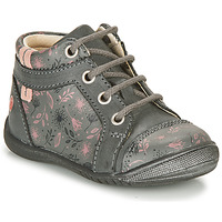 Chaussures Fille Boots GBB OMANE Gris / Rose