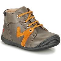 Chaussures Garçon Boots GBB OVELO Gris / Ocre