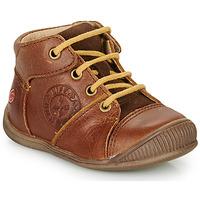 Chaussures Garçon Boots GBB OULOU Marron / Cognac
