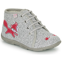 Chaussures Fille Chaussons GBB OTRALEE Gris / Rose
