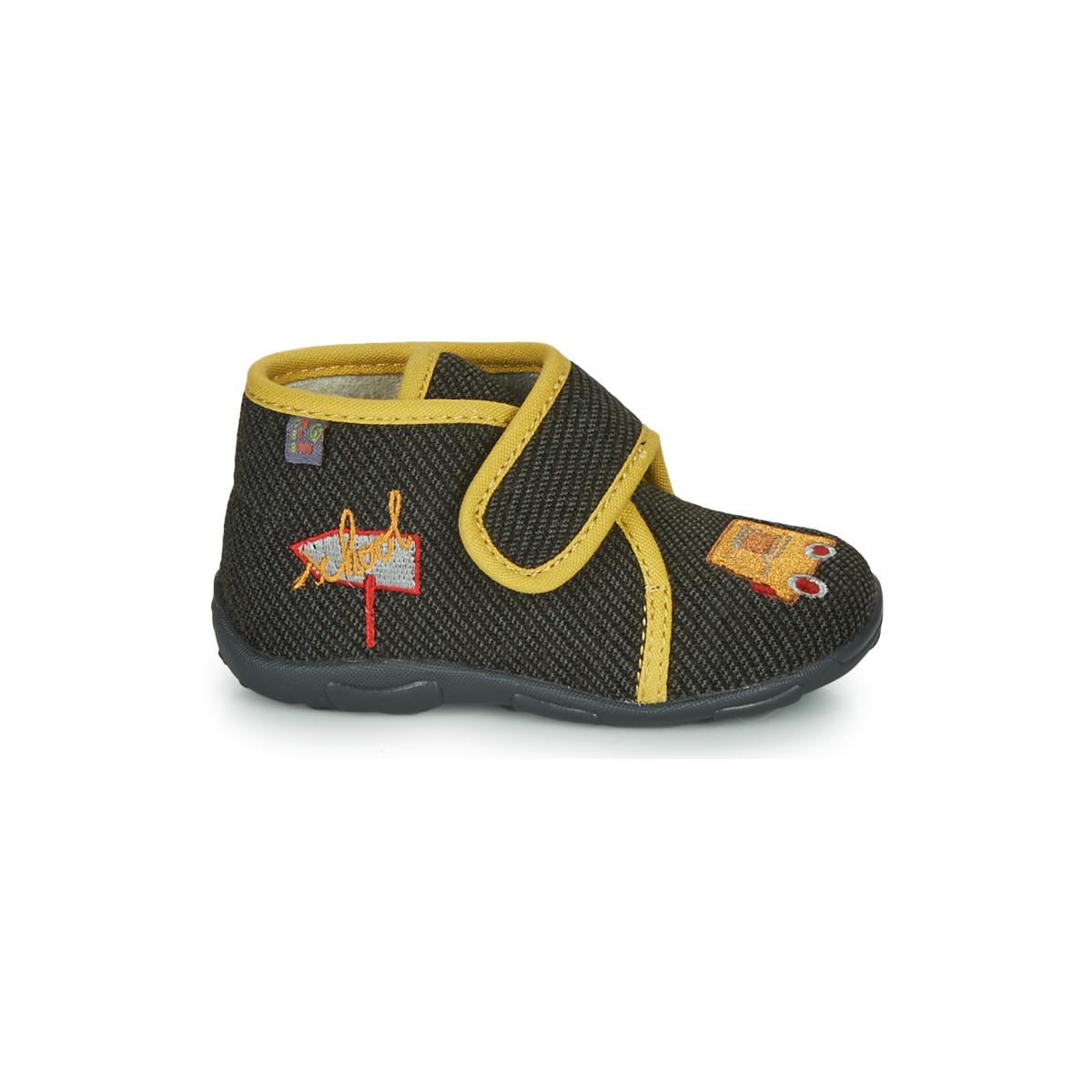 Chaussons enfant garcons gbb okandi noir