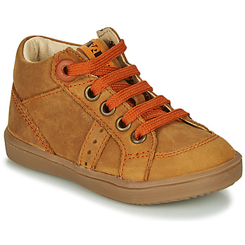 Chaussures Garçon Baskets montantes GBB ANGELITO Cognac