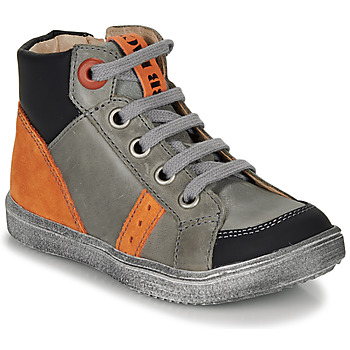 Chaussures Garçon Baskets montantes GBB ANGELITO GRis / Orange