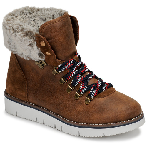 Chaussures Femme Boots Skechers BOBS ROCKY Marron