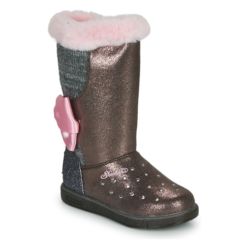 Chaussures Fille Boots Skechers GLITZY GLAM Rose